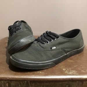 Vans all black sneakers